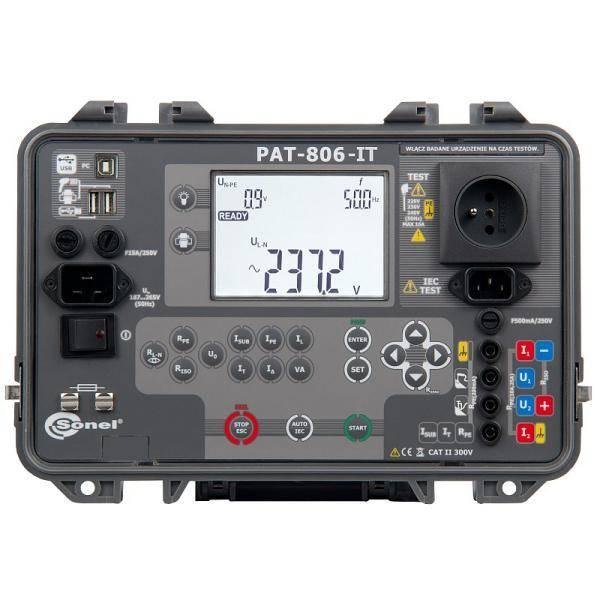 PAT-806-IT miernik bezpieczeństwa sprzętu elektrycznego i urządzeń spawalniczych Sonel