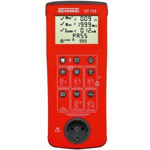 Wzorcowanie ST725 miernika bezpieczeństwa sprzętu elektrycznego Benning