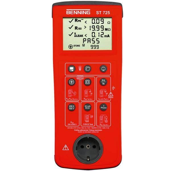 ST725 miernik bezpieczeństwa sprzętu elektrycznego Benning